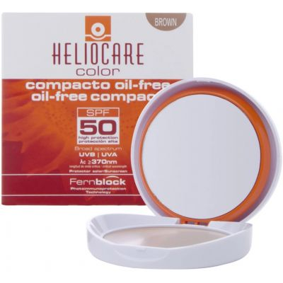 Heliocare Oil-Free Color Compact SPF50 Sunscreen Brown 10 g
