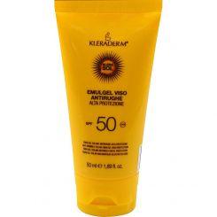 Солнцезащитная эмульсия для лица Клерадерм Клерасол СПФ50 с антивозрастным эффектом 50 мл