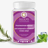 Альгинатная маска ALG and SPA для лица для жирной и угревой кожи с маслом Чайного дерева 200 мл