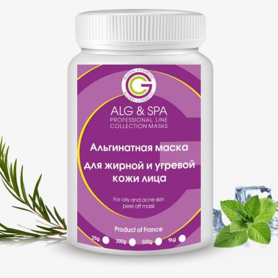 Alg & Spa For oily and acne skin peel off mask 500 ml