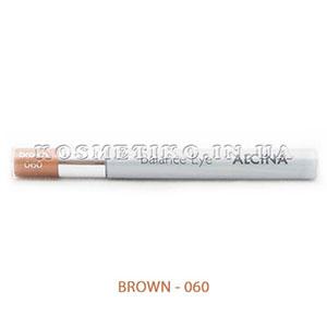 Тени для век с карандашом и аппликатором (Eye Shadow Monomatic) - BROWN - 060