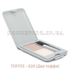 Тени для век двухцветные (Eye Shadow Split) - TOFFEE - 020 (Два тоффи)