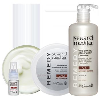 REMEDY MULTI-ACTIVE PROGRAMME - интенсивная восстанавливающая программа для поврежденых волос с полифенолами белого винограда + инновационный комплекс HairSphere ®  (сфера в сфере)